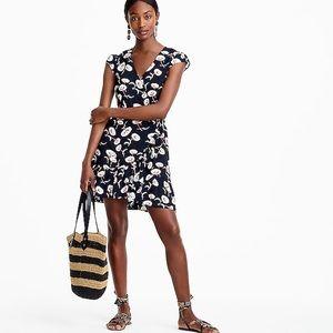 J. Crew Mercantile Faux-Wrap Floating Floral Dress